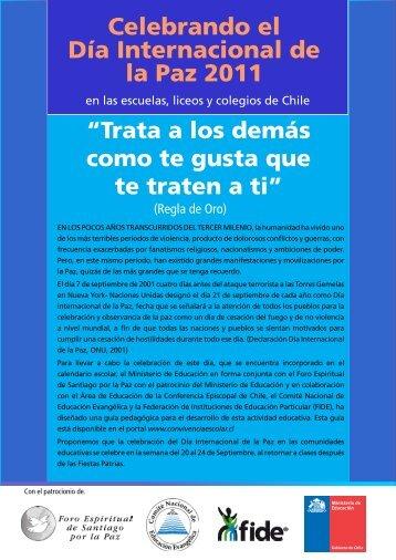 Celebrando el Día Internacional de la Paz 2011 - Conferencia ...