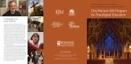 One Percent Gift Program for Theological Education - The School of ...