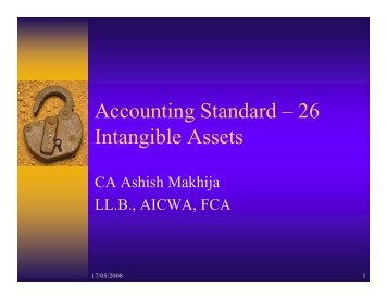 Accounting Standard – 26 Intangible Assets - tnkpsc.com