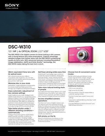 DSC-W310 - MCM Electronics