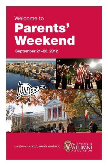 Parents' Weekend - Wisconsin Alumni Association