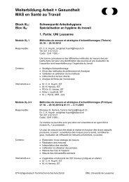 Block IIIH: - Institut universitaire romand de Santé au Travail