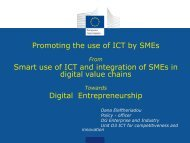 Promoting the use of ICT by SMEs Smart use of ... - ERRIN Network