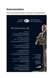 03_D_Dokumentation_Pfizer Forschungs-Preis ... - Drogoserver.ch