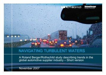 NAVIGATING TURBULENT WATERS - Roland Berger
