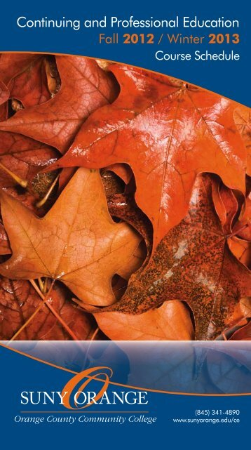Fall 2012 / Winter 2013 - SUNY Orange