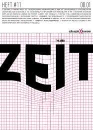 01.010 HEFT #11 - Schauspiel Hannover