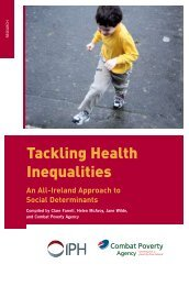 Tackling Health Inequalities - Combat Poverty Agency