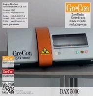 DAX 5000 - Kontrolle des Rohdichteprofils mit dem Labor ... - GreCon