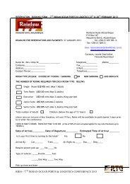Hotel Reservation Form - Transport Events Management