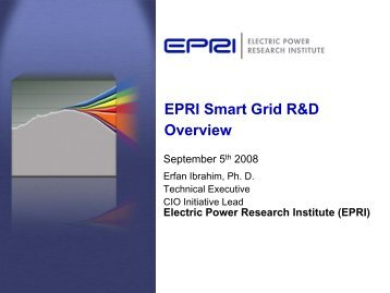 EPRI Smart Grid R&D Overview
