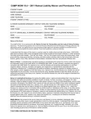 ROCKED BY GOD Retreat Liability Waiver and Permission Form