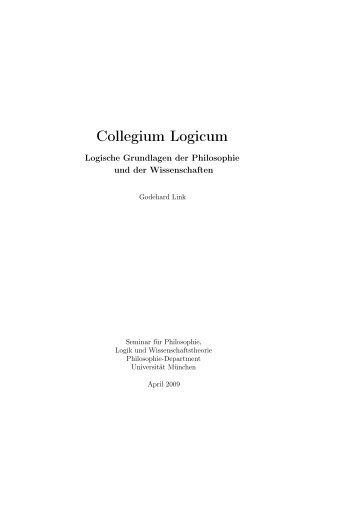 Collegium Logicum – Logische Grundlagen der Philosophie und