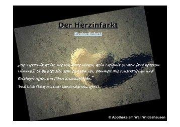 """Der Herzinfarkt """" - Apotheke am Wall"""