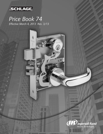 Schlage March 2013 Price Book.pdf - Access Hardware Supply