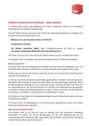 Pulheim braucht eine G-Schule – aber welche? - SPD Pulheim