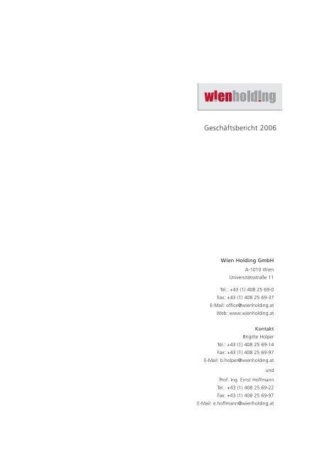 Geschäftsbericht 2006 - Wien Holding
