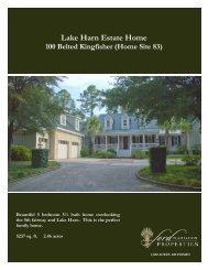 Lake Harn Estate Home - The Ford Plantation