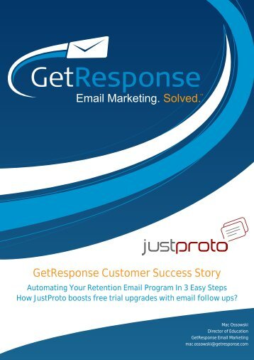 GetResponse Customer Success Story - Email Marketing