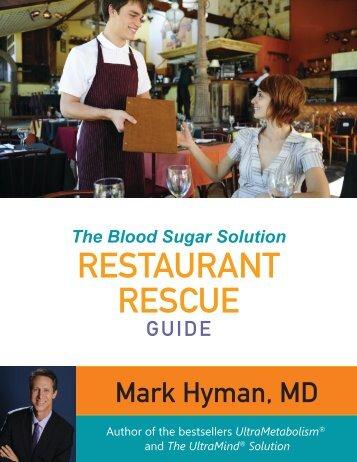 The Blood Sugar Solution RESTAURANT RESCUE - Dr. Mark Hyman
