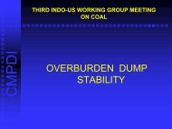 Overburden Dump Stability - Office of Fossil Energy