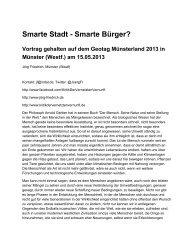 Smarte Stadt Smarte Bürger? - Kritik der vernetzten Vernunft