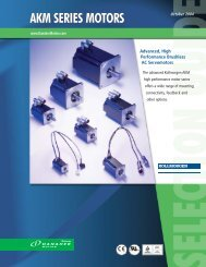 AKM SERIES MOTORS - EDMR for Servo Motor Repair   Servo motors