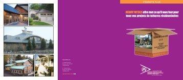 Produits Plus - Résidentielles - Agway Metals Inc