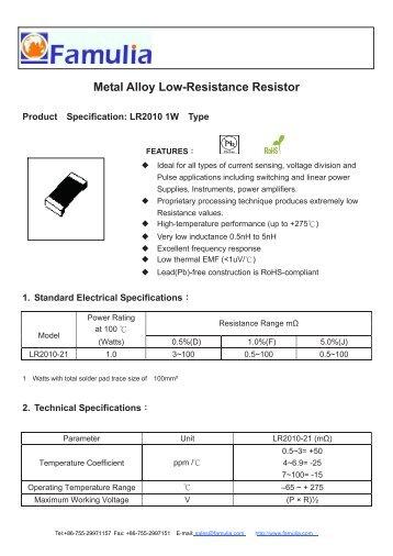 Power Metal Strip Resistors, Low Value, Surface Mount