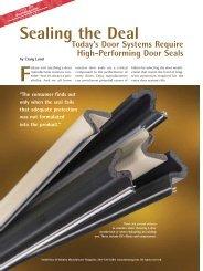 Sealing the Deal - USGlass Magazine