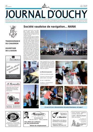 Société vaudoise de navigation... NANA - Journal d'Ouchy