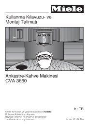 CVA 3660 Nespresso - Miele Yetkili Servisi