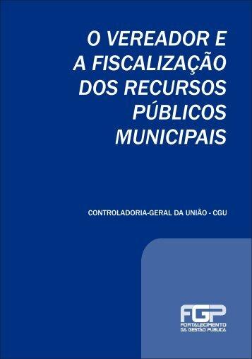 o vereador ea fiscalização dos recursos públicos municipais