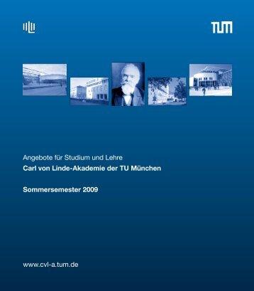 Angebote für Studium und Lehre Carl von Linde-Akademie der TU ...