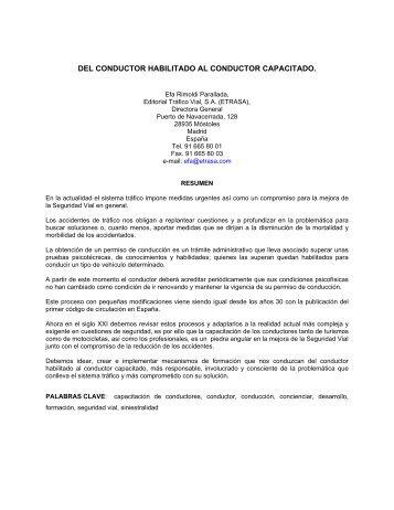 DEL CONDUCTOR HABILITADO AL CONDUCTOR CAPACITADO.