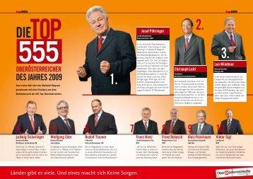 Die Top 555 Oberösterreicher des Jahres 2009