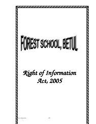 Right of Information Act, 2005 - Betul