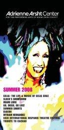 2008 Summer Brochure - Adrienne Arsht Center