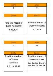 Treasure Hunt - Averages - Mr Barton Maths