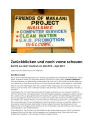 Den Bericht des Vorstandes vom Mai 2012 bis April 2013 können ...