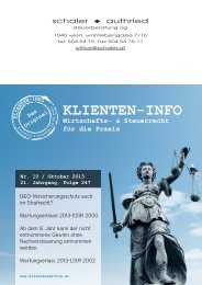 Klienteninfo - Schaler und Authried
