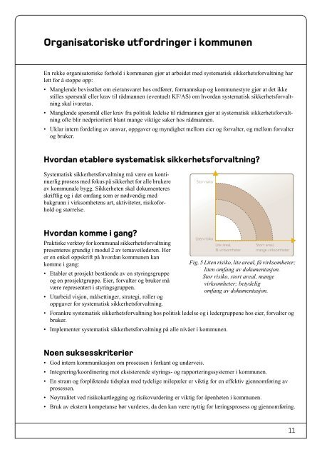 Systematisk sikkerhetsforvaltning i kommunale bygg. Modul 1