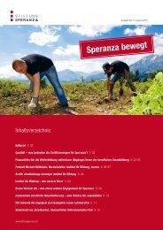 Ausgabe Nr. 3, Speranza bewegt - Stiftung Speranza