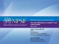 Download slides of the presentation - National Patient Safety ...