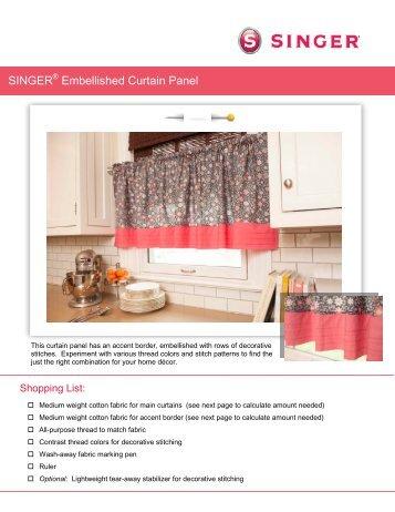 SINGER Embellished Curtain Panel