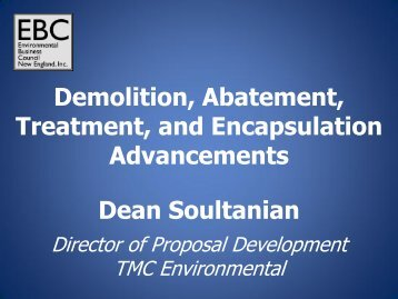 Demolition, Abatement, Treatment, and Encapsulation ...