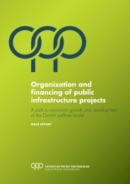 Organization and financing of public infrastructure projects - ATP