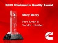 Mary Berry Print Smart II Vendor Transfer - Cummins
