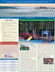 December 2012 - City of Bonney Lake