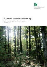 Merkblatt Forstliche Förderung 2012